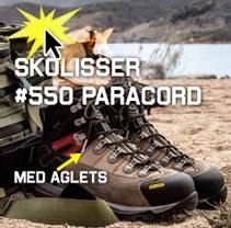 Skolisser 550 Paracord med aglets